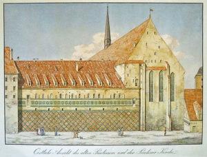 Paulinerkirche und ehem. Dominikanerkloster vor 1830