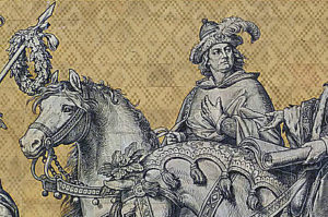 Markgraf Dietrich der Bedrängte von Meißen auf dem Dresdener Fürstenzug