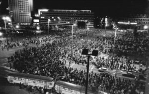 Montagsdemonstration in Leipzig 1989