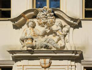 """Portal des Hauses """"Zum Arabischen Coffeebaum"""""""