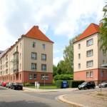 Wohnbebauung der 1950er Jahre am Gerhart-Hauptmann-Platz