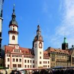 Altes und Neues Rathaus am Markt