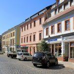 Niedermarkt Döbeln mit Geburtshaus von Ernst Heckel