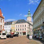 Obermarkt Döbeln mit Altem Amtshaus