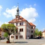 Das Rathaus am Marktplatz von Geithain