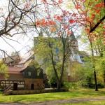 Im Stadtpark mt Zollhaus und Nicolaikirche