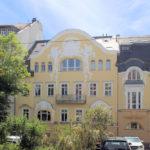 Jugendstilfassade am Wohnhaus Menckestraße 19