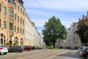 Der alte Dorfkern von Gohlis an der Menckestraße