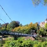 Grimma, Hängebrücke über die Mulde
