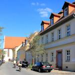 Klosterstraße in Grimma mit Blick zur Augustinerkirche