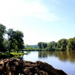 Grimma, Mulde südlich der Stadt