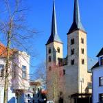 Grimma, Doppelturmfassade der Stadtkirche