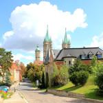 Blick vom Oberlandesgericht zum Dom in Naumburg