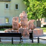 Brunnen am Töpfermarkt in Rochlitz
