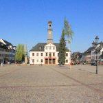 Marktplatzbebauung Rochlitz, Obermarkt mit Rathaus