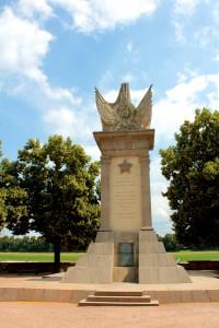 Das Denkmal der Befreiung an der Elbe in Torgau