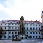 Der Große Wendelstein im Hof des Schlosses Hartenfels