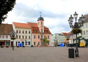Marktplatz und Rathaus in Wurzen