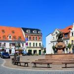 Der Markt mit dem Ringelnatzbrunnen