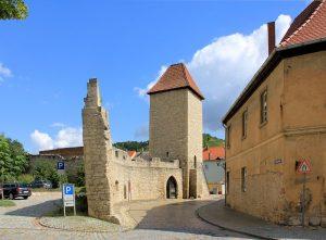 Stadtmauer und Eckstädter Torturm in Freyburg/Unstrut