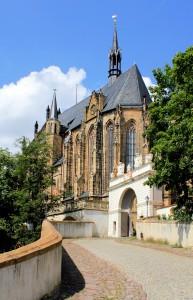 Residenzschloss Altenburg, Schlossauffahrt und Schlosskirche