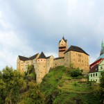 Burg Elbogen (Loket) über der Eger
