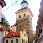 In der Altstadt von Elbogen (Loket)