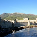 Anamur, Mamure Kalesi, Mauern an der Seeseite