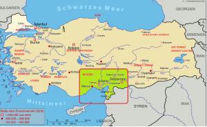 Lage Kilikiens in der Türkei Quelle: www.drkochtours.de