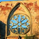 Pfarrkirche Wachau, Rosette im Süd-Querschiff (Zustand Dezember 2013)