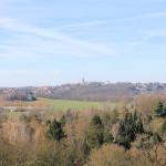 Blick vom Höhenweg nach Höhnstädt