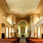 Wolkenburg, Ev. Mauritiuskirche, Kirchenschiff zum Chor