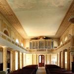 Wolkenburg, Ev. Mauritiuskirche, Kirchenschiff mit OrgelWestbau