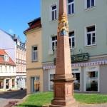 Postmeilensäule an der Dresdner Straße